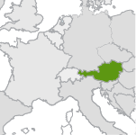 small map highlighting austria