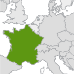 small map highlighting france