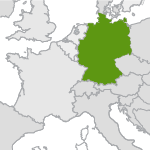 small map highlighting germany