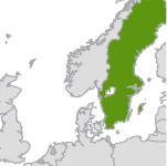 small map highlighting sweden