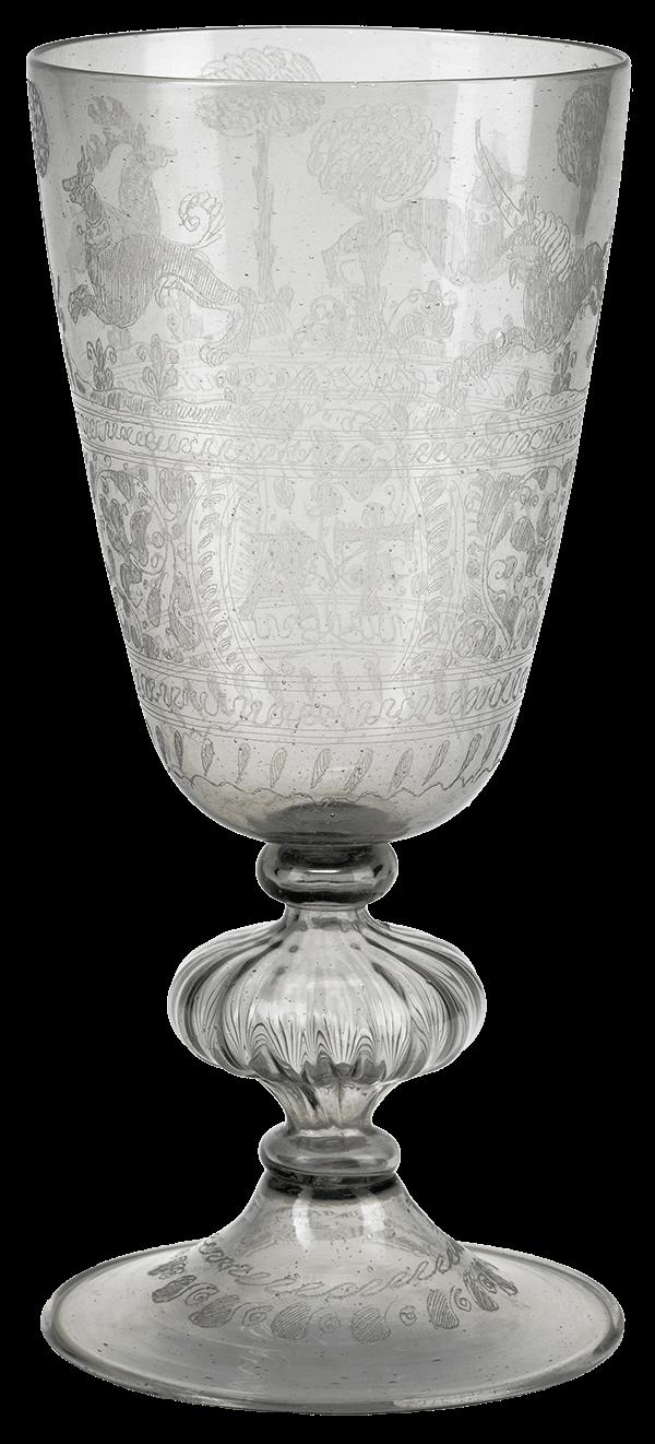 etched goblet